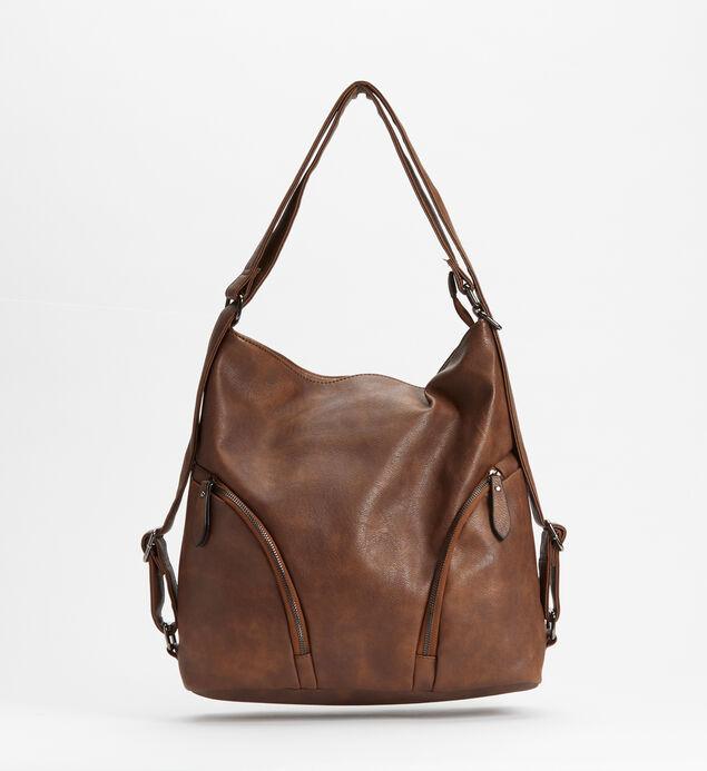 Double-Zip Hobo Bag