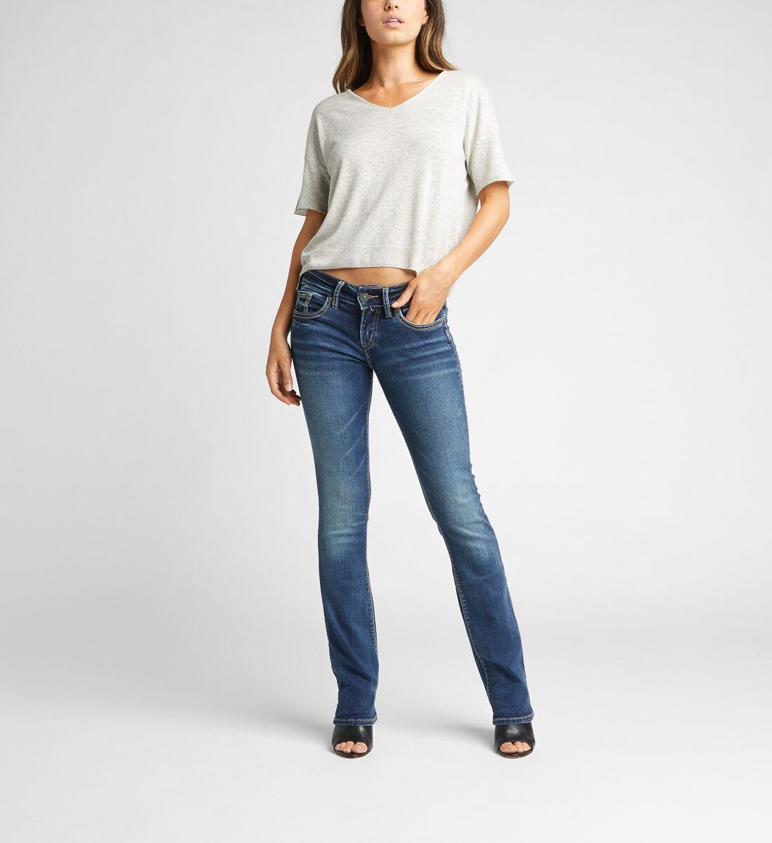 Suki Mid Rise Slim Bootcut Jeans,Indigo Front