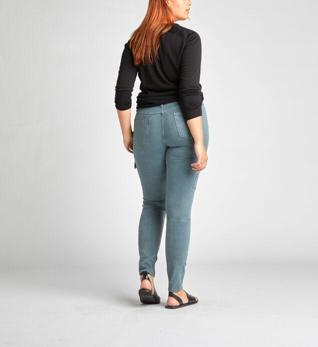 Skinny Cargo Mid Rise Skinny Leg Pants, , hi-res