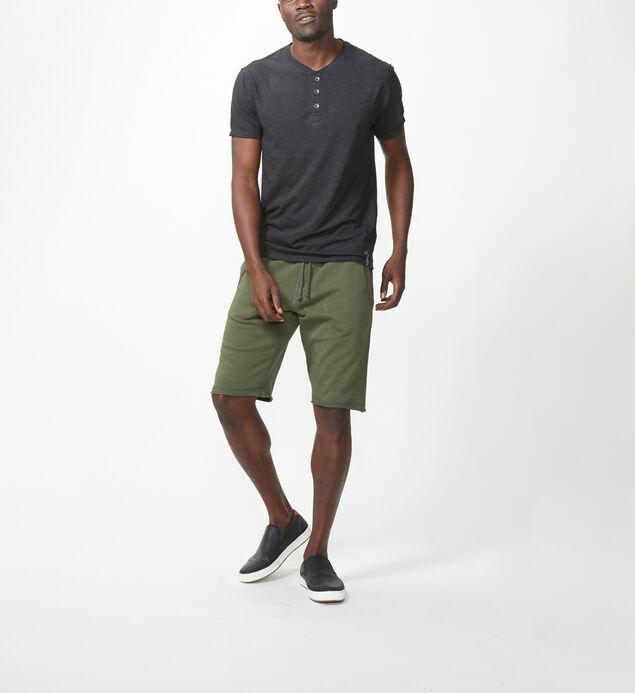 Jeremy Knit Jogger Shorts, Moss, hi-res