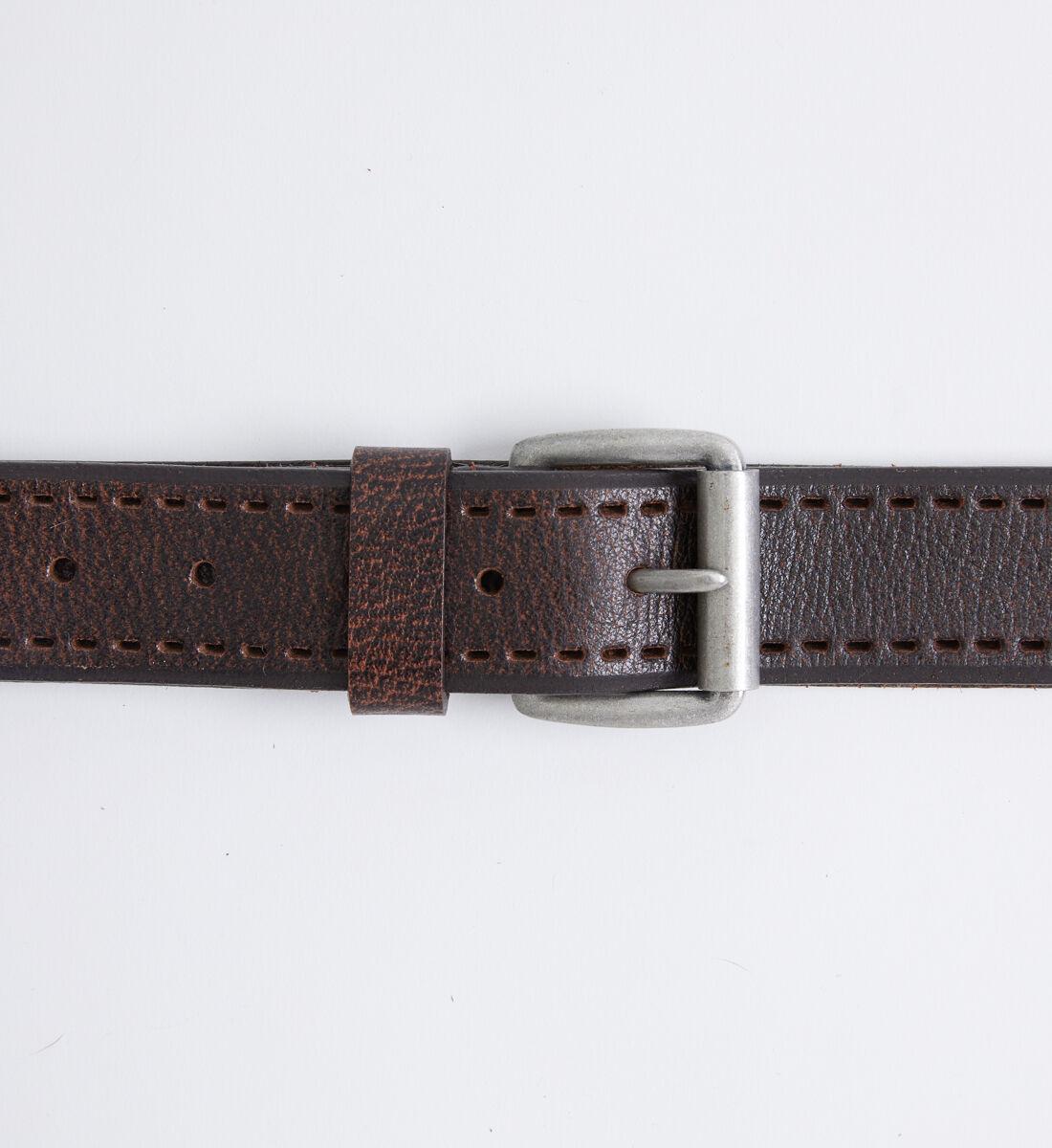 Pebbled Leather Mens Belt Alt Image 1