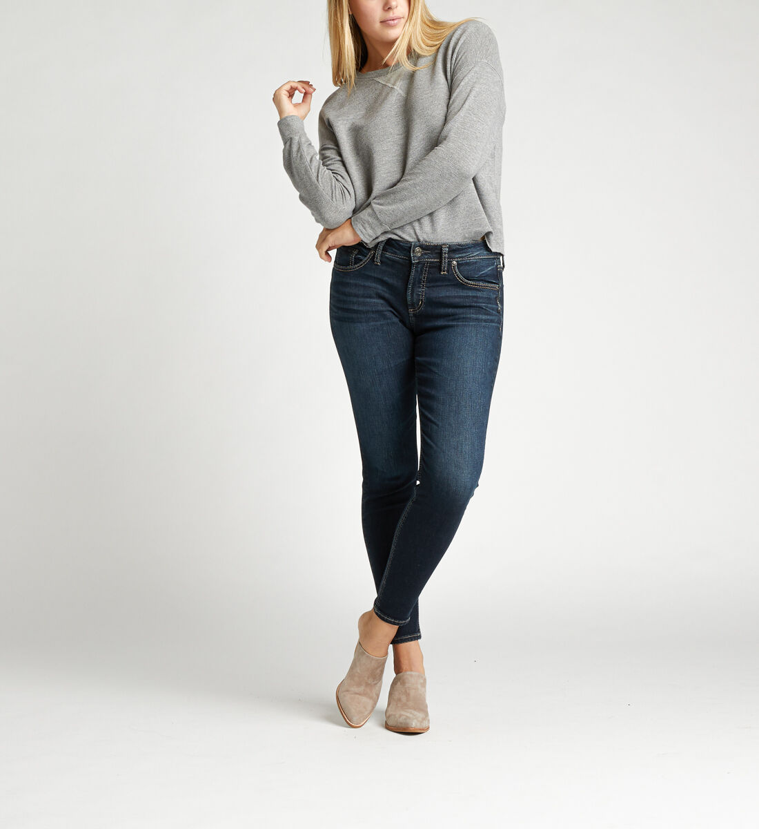 Avery High Rise Skinny Jeans Front