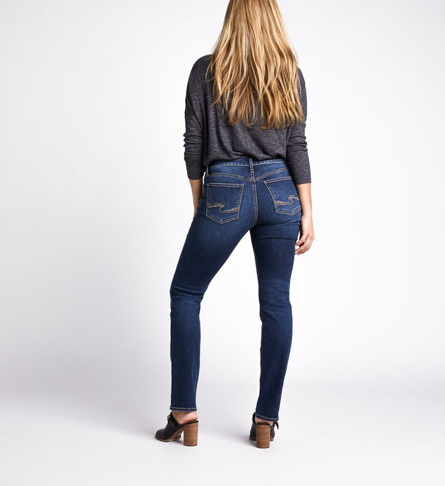 Avery High Rise Straight Jeans, Indigo, hi-res