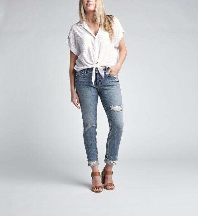 Elyse Mid Rise Ankle Slim Leg Jeans