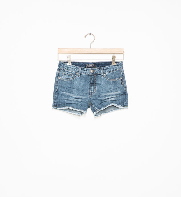 Lacy Frayed Denim Shorts (7-16)