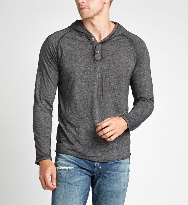 Kyles Long-Sleeve Hooded Henley