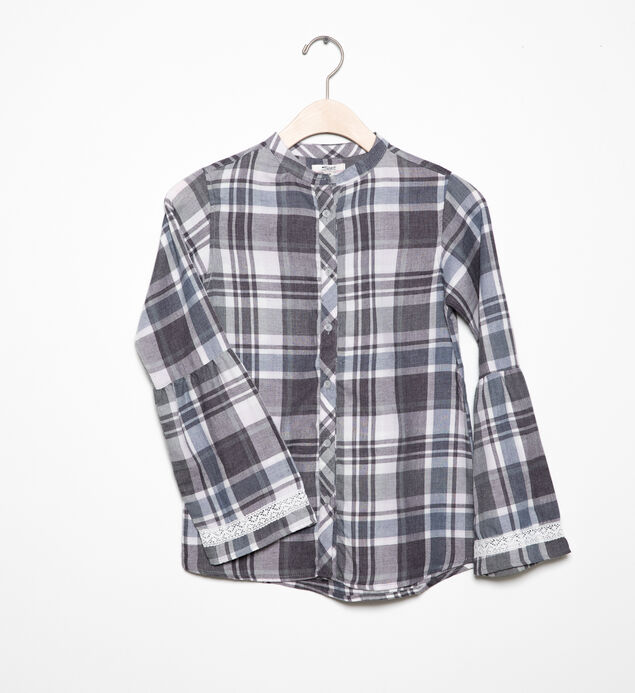 Long-Sleeve Plaid Tunic (4-7)