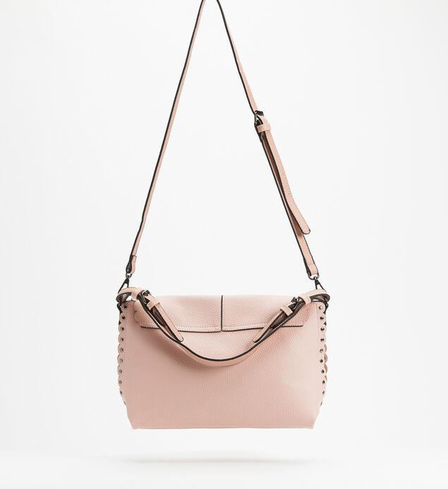 Flap Crossbody Bag, Pink, hi-res