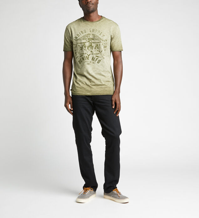 Dimitri Short-Sleeve Slub Graphic Tee, Green, hi-res