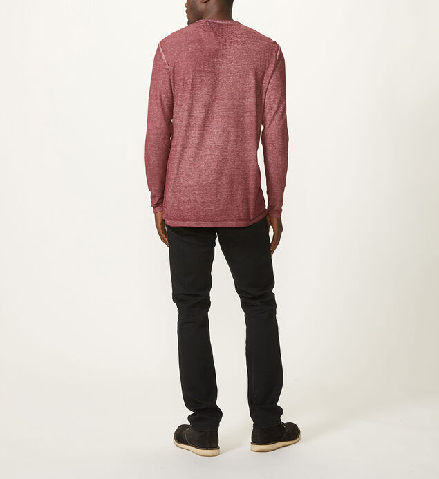 Norris Long-Sleeve Henley, Pink, hi-res