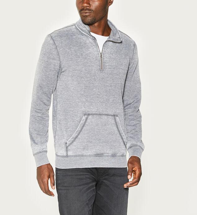 Morgan Burnout Zip Pullover