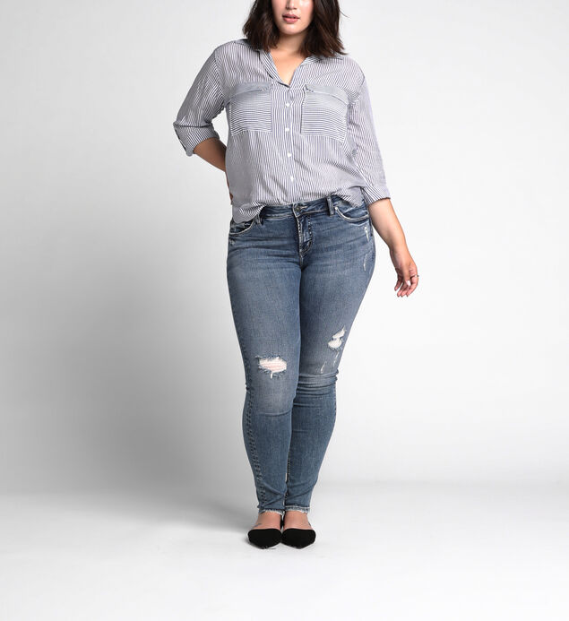 Suki Super Skinny Mid Rise Dark Wash