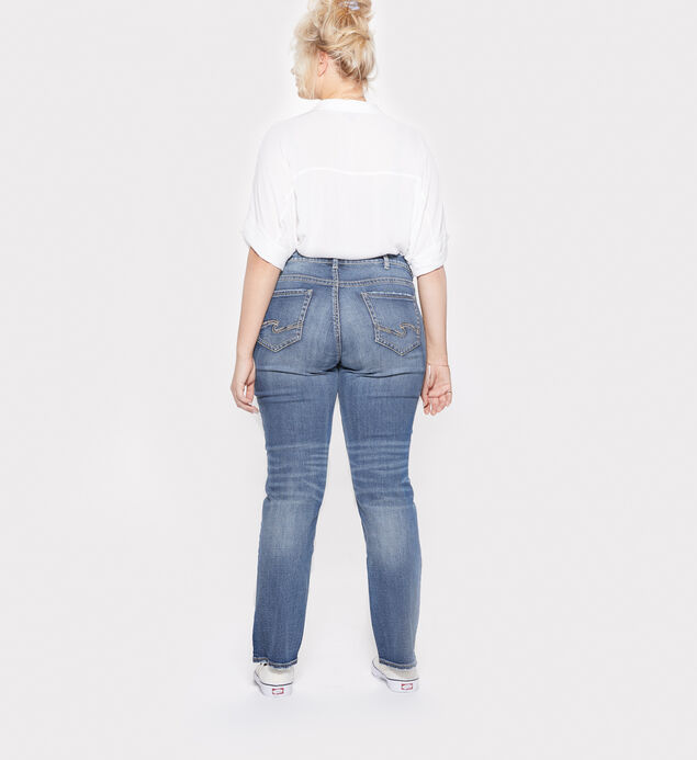 Suki Plus Size Straight Dark Wash, , hi-res