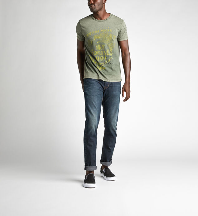 Devin Short-Sleeve Graphic Tee, Green, hi-res