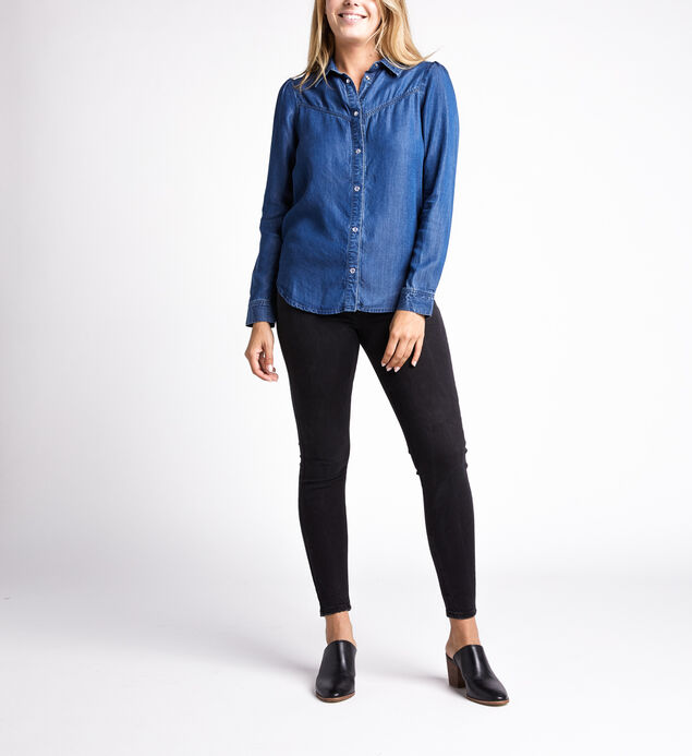 Lucie Denim Shirt, Indigo, hi-res