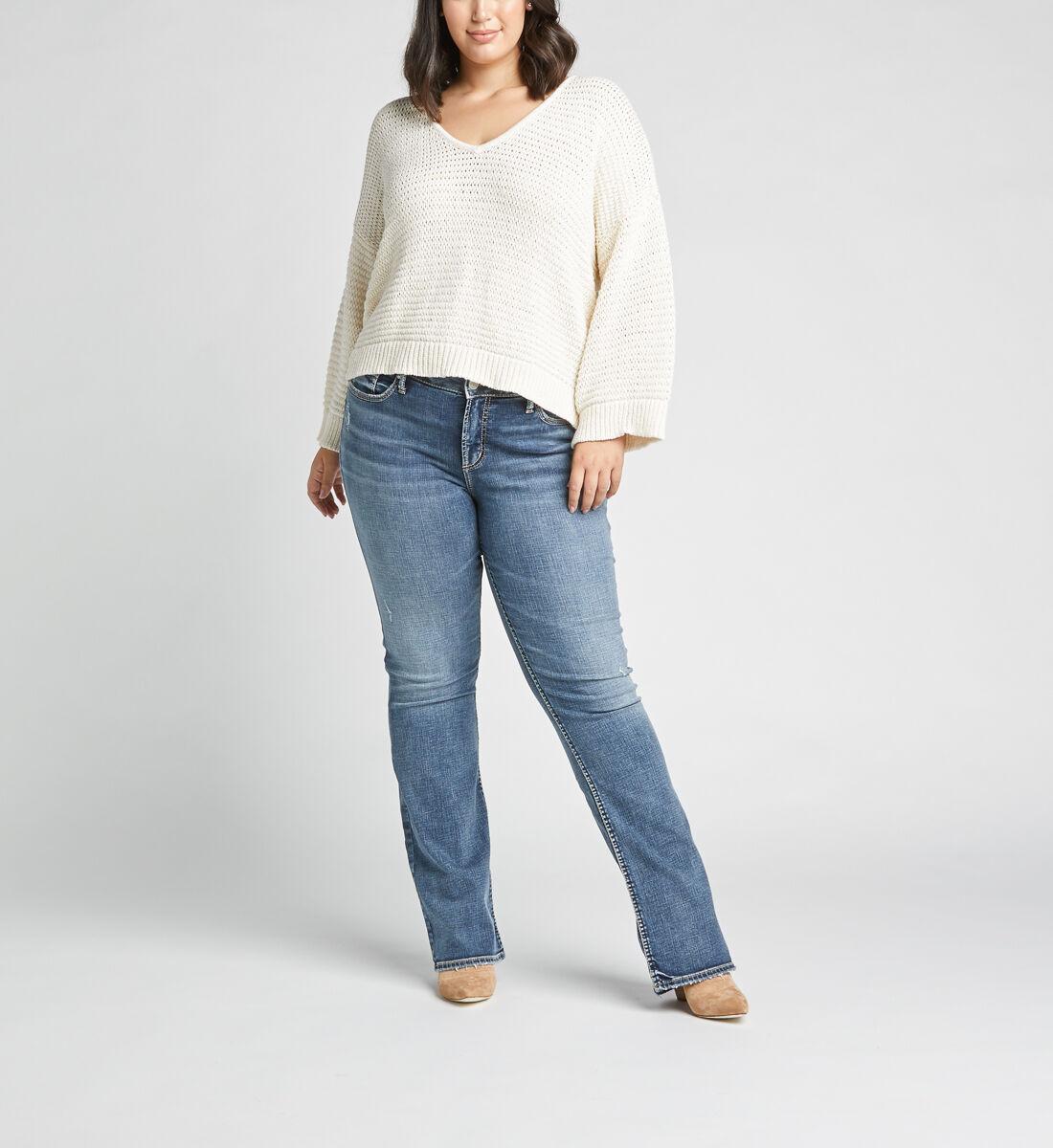 Elyse Mid Rise Slim Bootcut Plus Size Jeans Alt Image 1