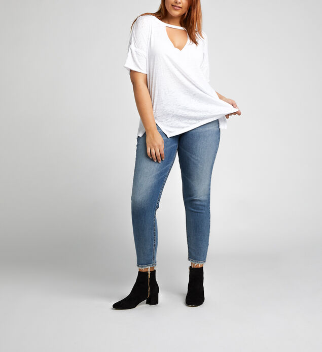 Celeste Cutout V Loose-Fit Tee, , hi-res
