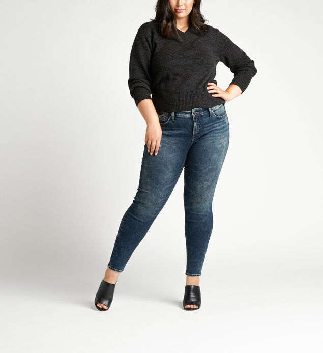 Elyse Mid Rise Skinny Plus Size Jeans