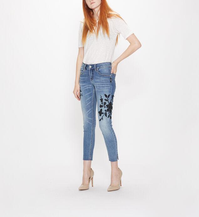 Girlfriend Mid Rise Skinny Leg Jeans