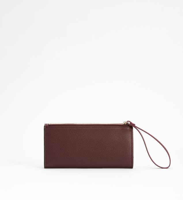 Medium Flap Wristlet Wallet, Plum, hi-res