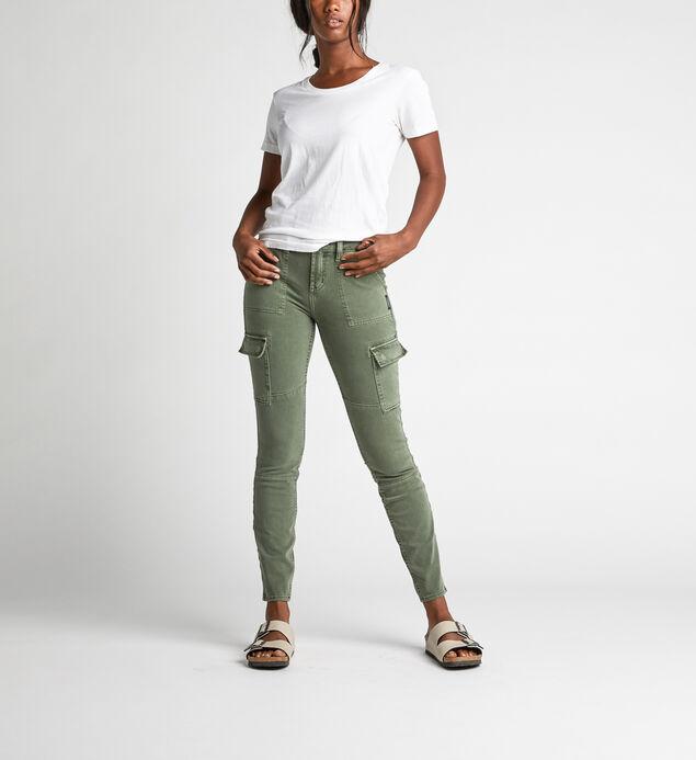 Skinny Cargo Mid Rise Skinny Leg Pants