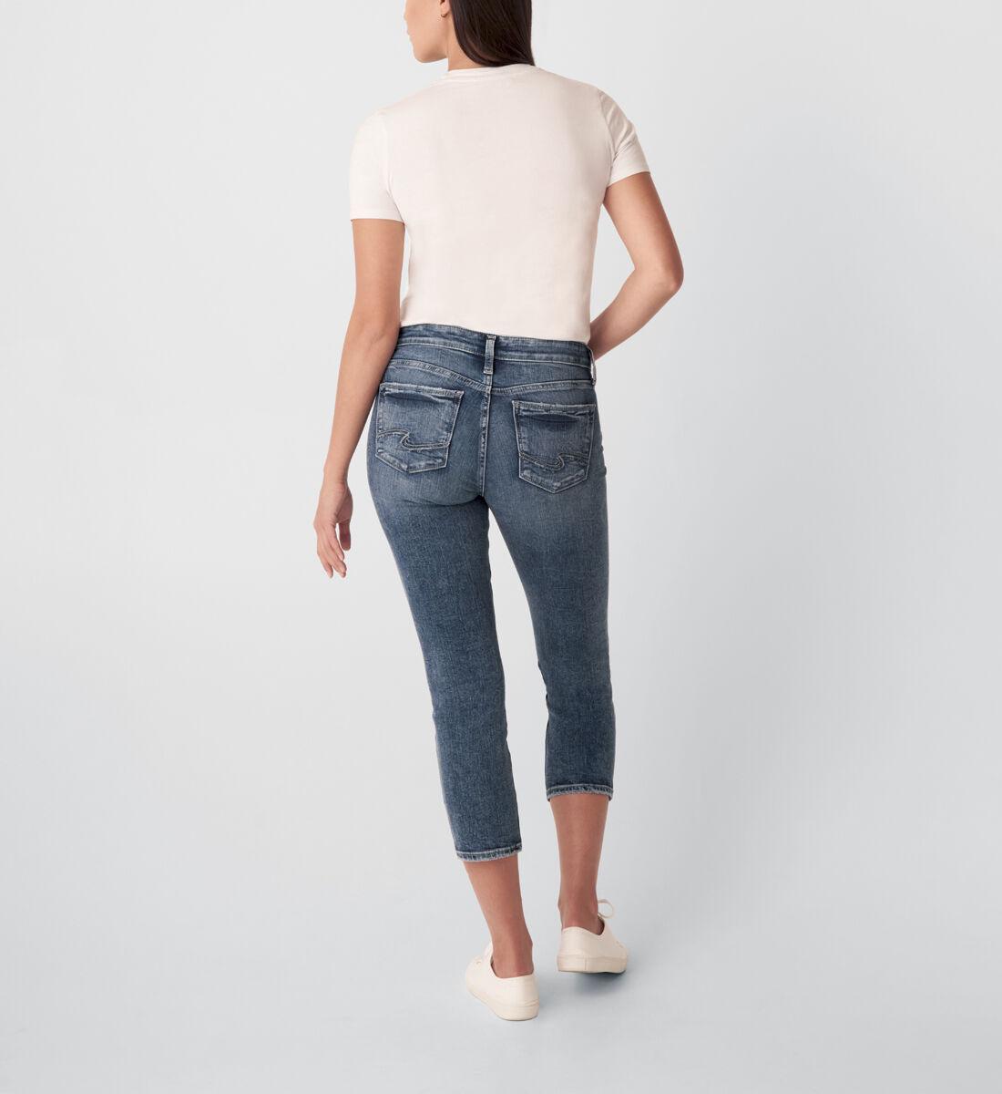 Suki Mid Rise Straight Crop Jeans Back