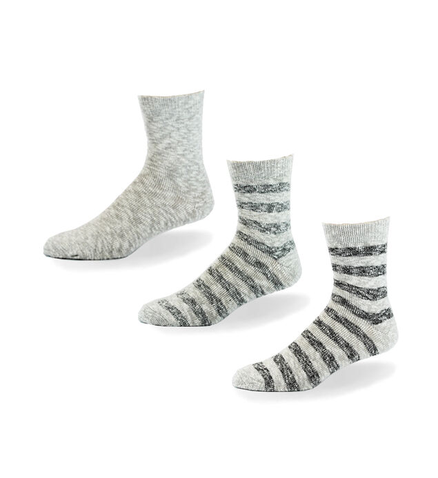 Slub Stripe Mid-Calf Mens Socks