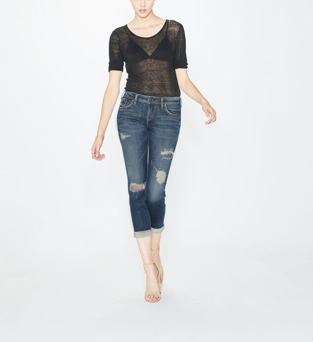 Sam Boyfriend Mid Rise Dark Wash