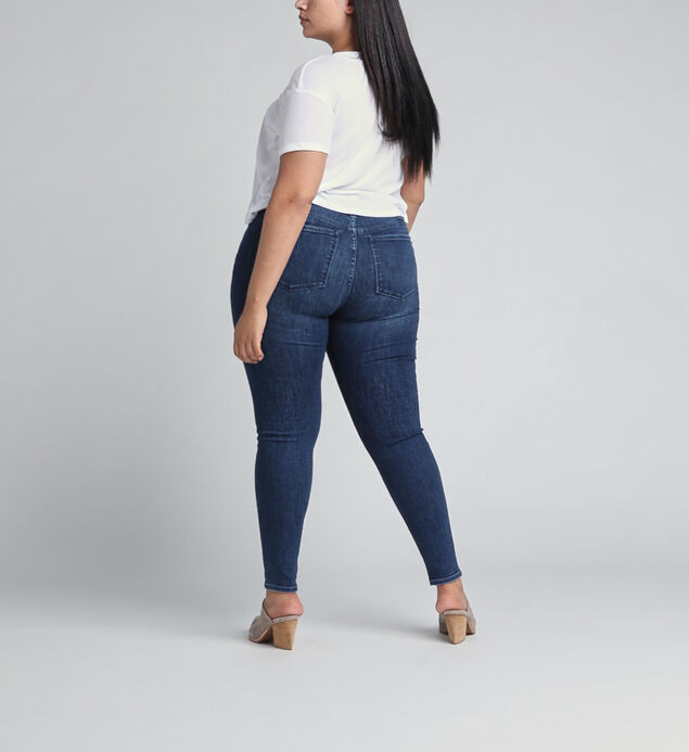 Most Wanted Mid Rise Skinny Leg Jeans Plus Size, Indigo, hi-res