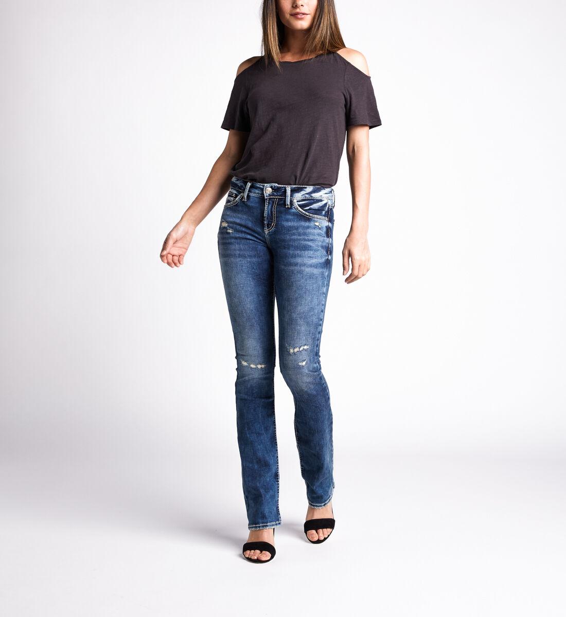 Avery High Rise Slim Bootcut Jeans,Indigo Alt Image 1