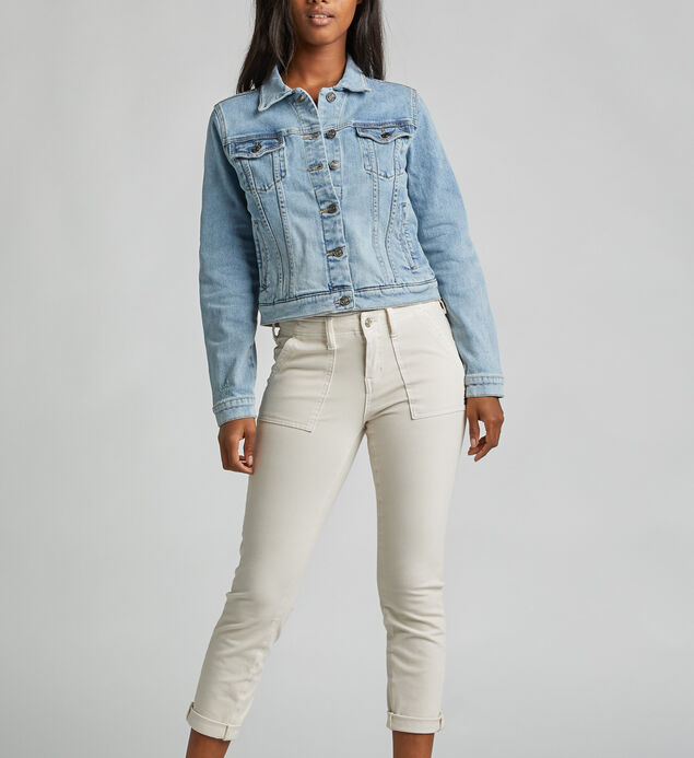 Sedona Slanted-Yoke Denim Jacket