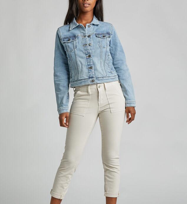 Sedona Slanted-Yoke Denim Jacket