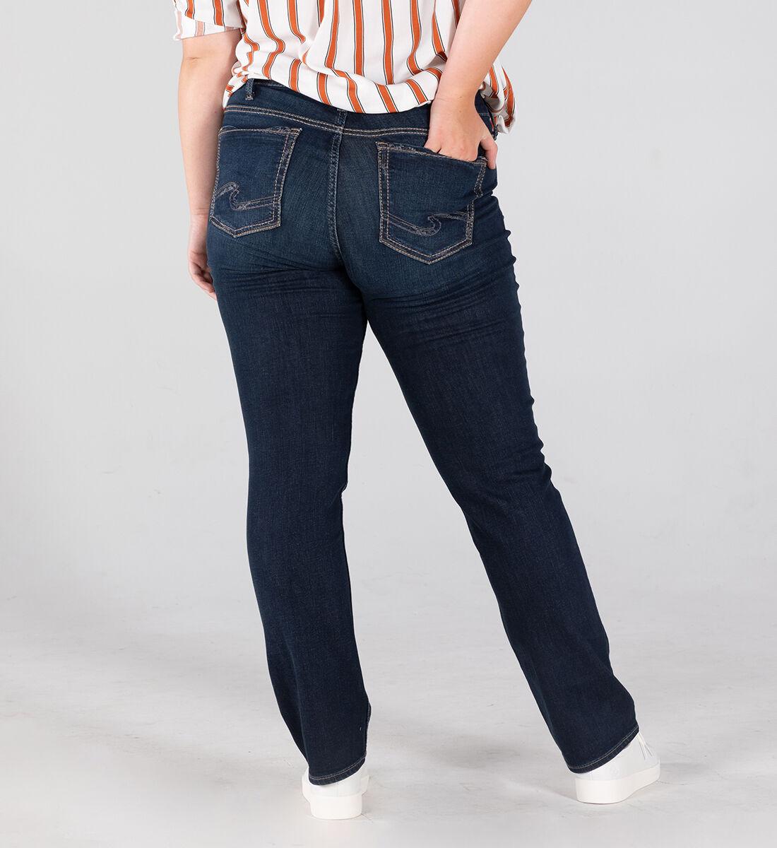 Suki Mid Rise Straight Leg Jeans Plus Size Back