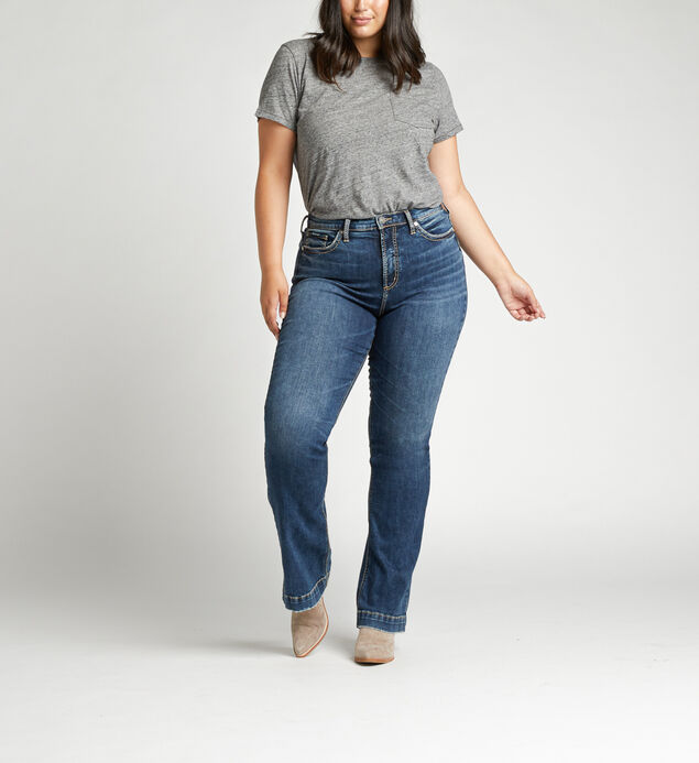 Calley Super High Rise Bootcut Plus Size Jeans