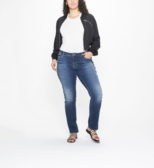 Elyse Plus Size Straight Dark Wash