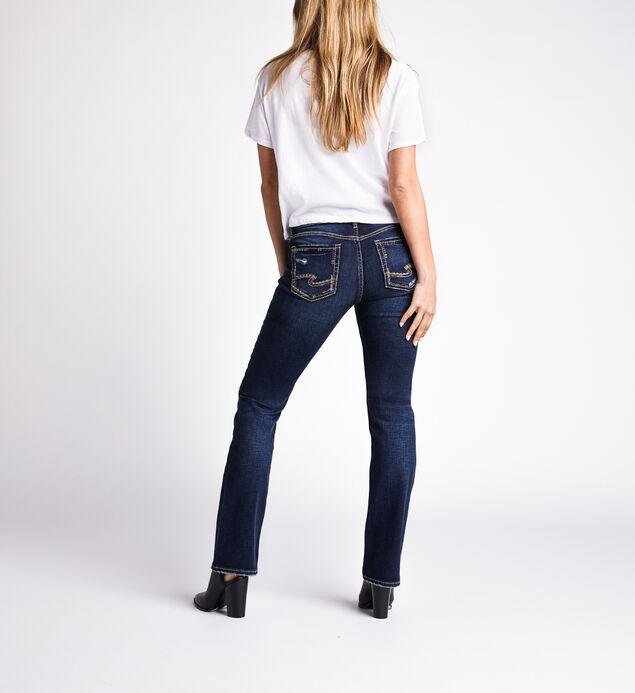 Elyse Mid Rise Slim Bootcut Jeans, Indigo, hi-res