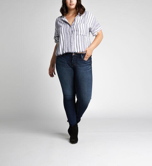Suki Mid Rise Skinny Leg Jeans Plus Size