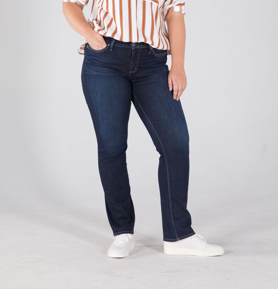 Suki Mid Rise Straight Leg Jeans Plus Size Front