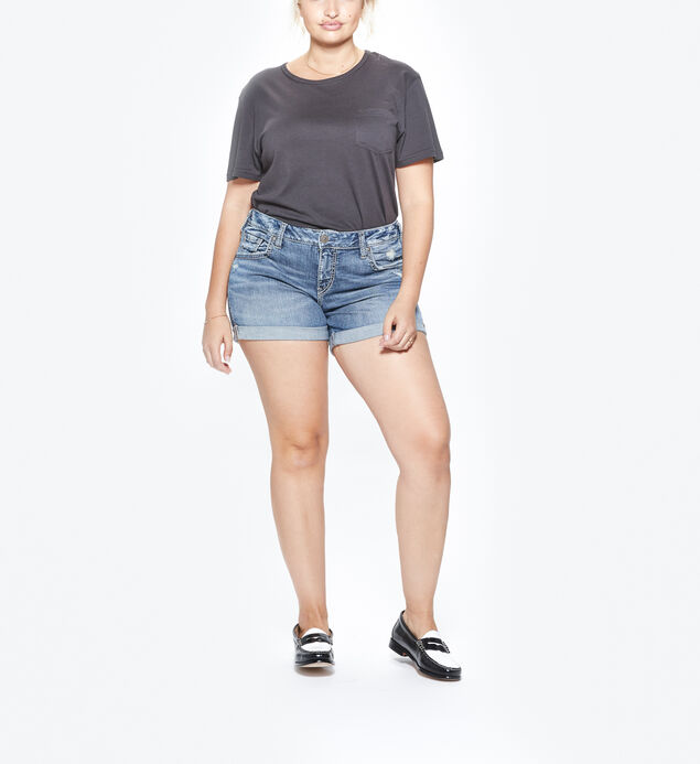Sam Mid Rise Boyfriend Short Plus Size