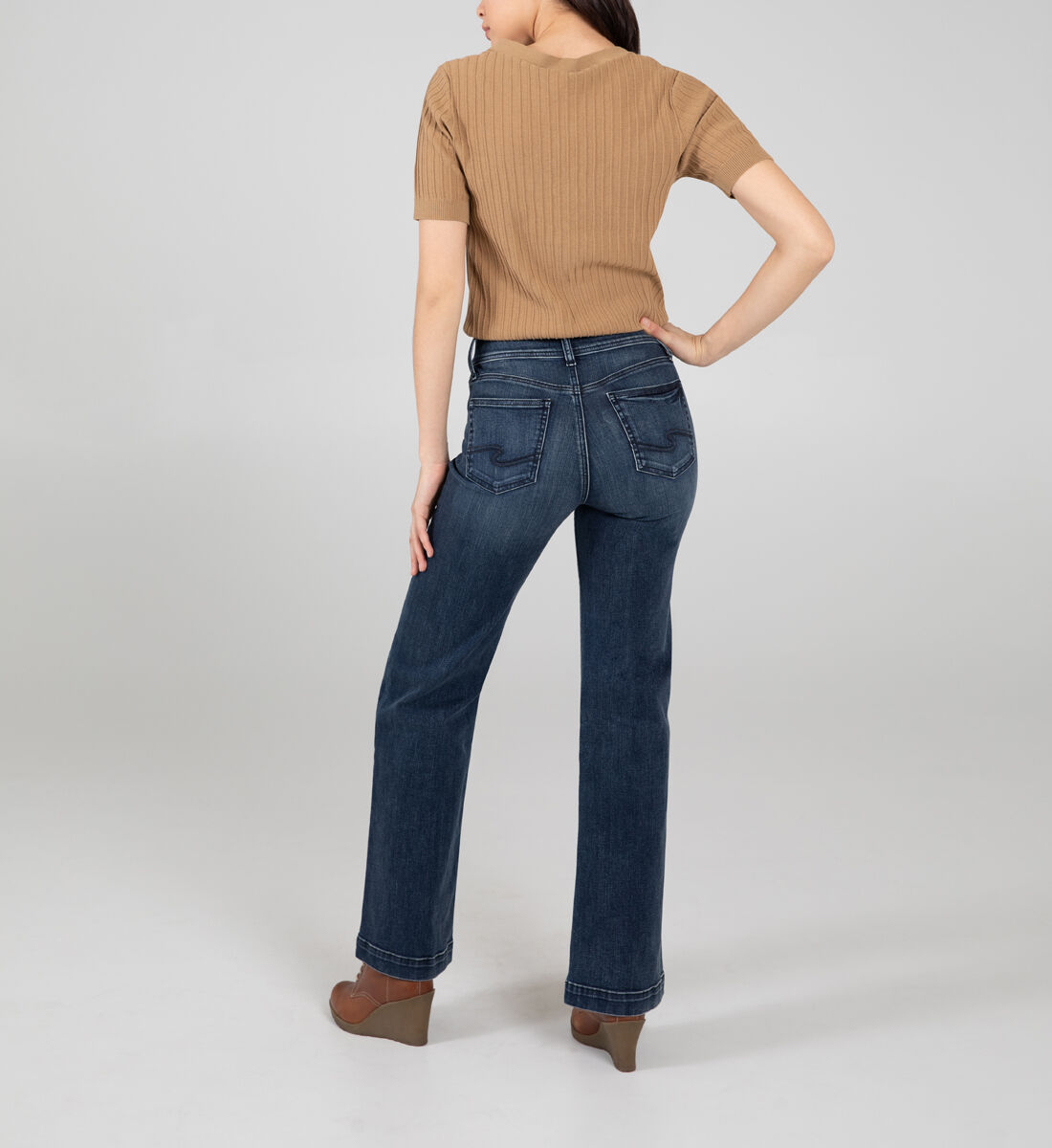 Avery High Rise Trouser Leg Jeans Back