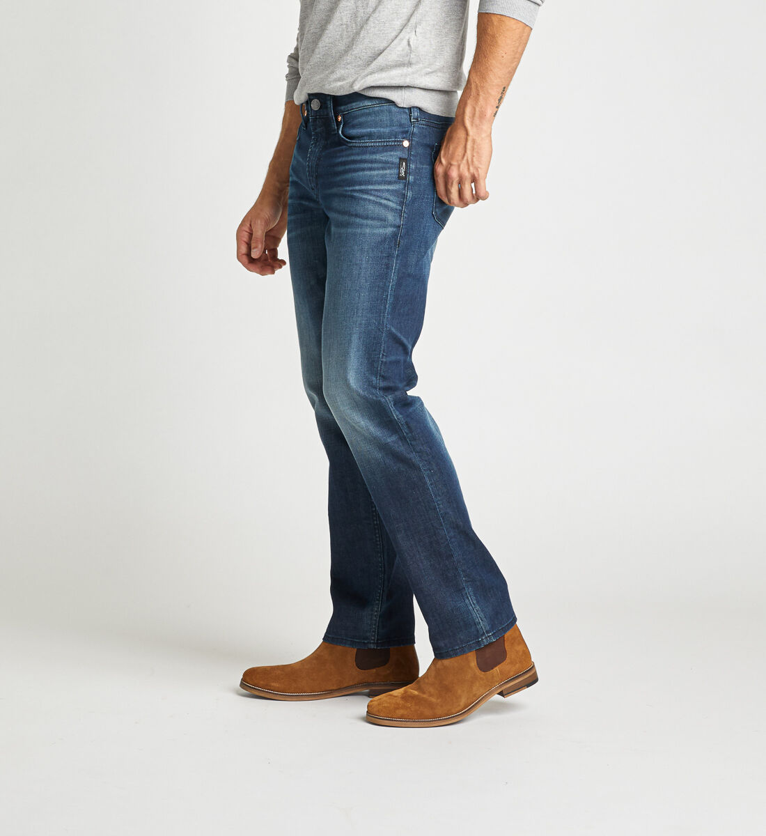 Konrad Slim Fit Slim Leg Jeans Side