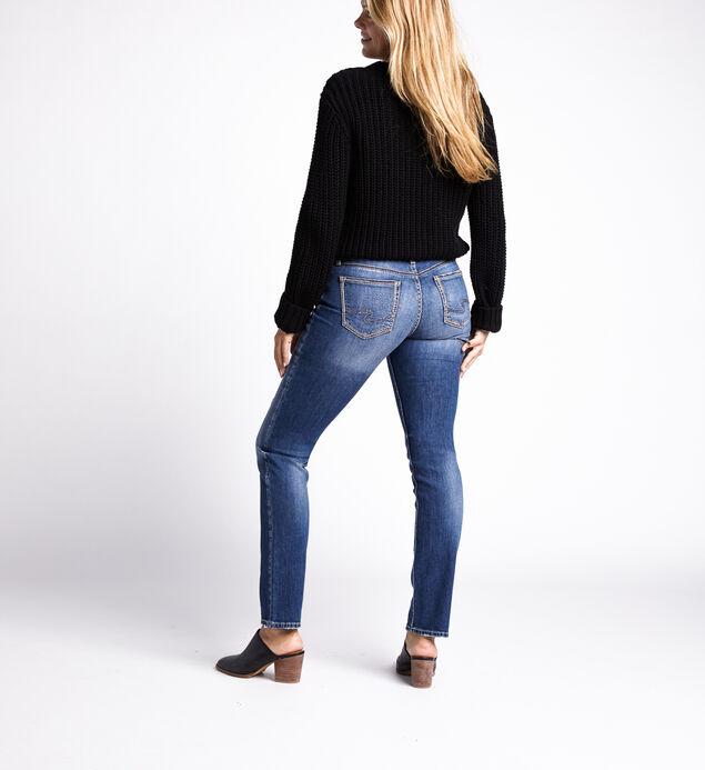 Suki Mid Rise Straight Jeans, Indigo, hi-res