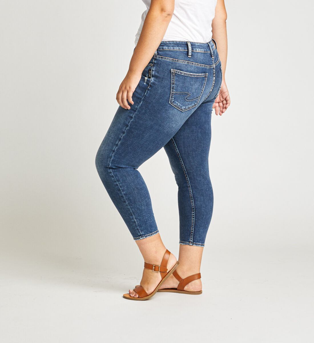 Suki Mid Rise Skinny Crop Jeans Plus Size Side