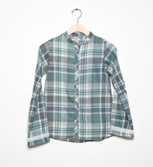 Long-Sleeve Plaid Tunic (7-16)