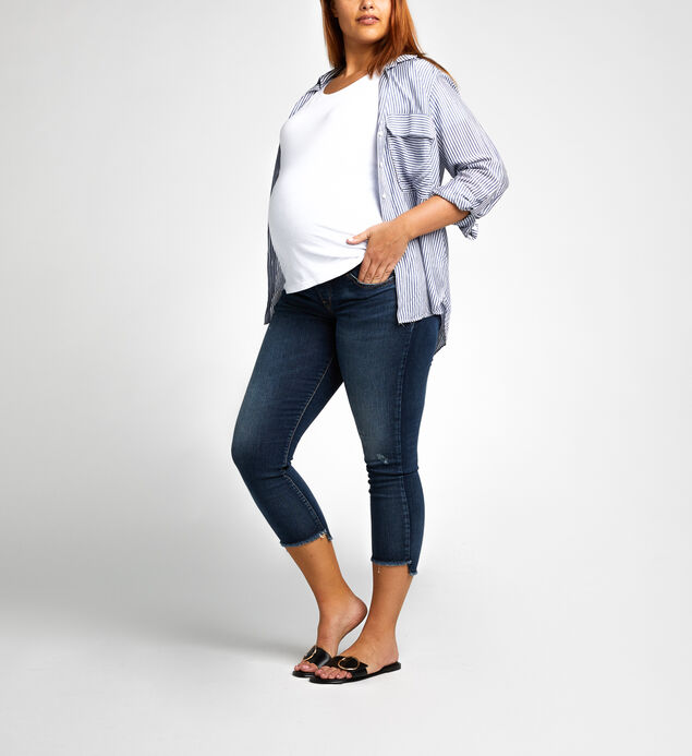 Avery Skinny Crop Dark Wash - MATERNITY