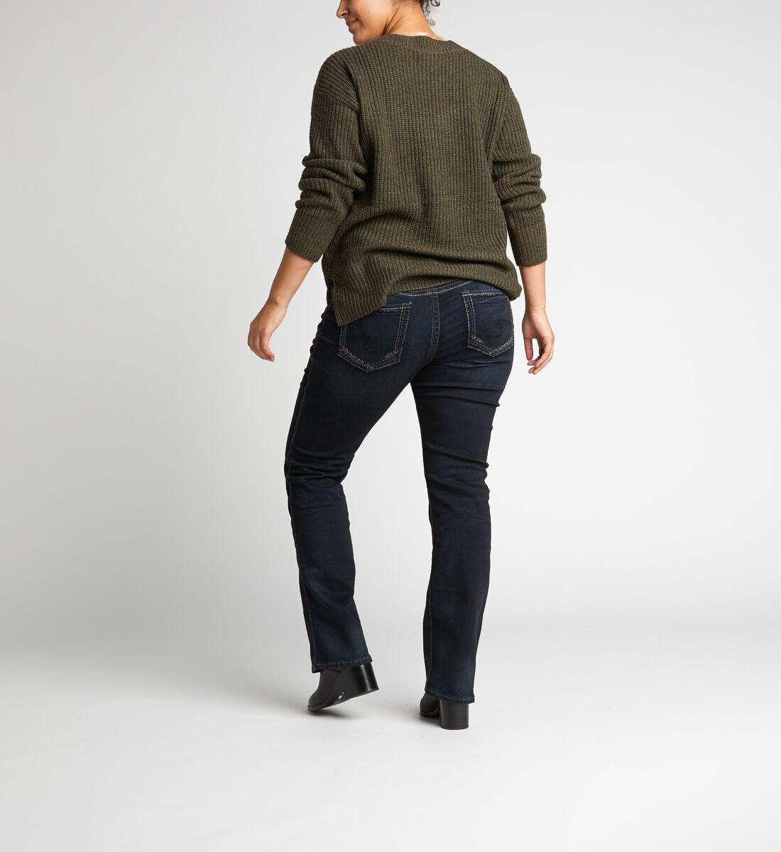 Suki Mid Rise Slim Bootcut Jeans Plus Size Back