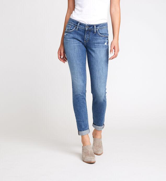 Boyfriend Mid Rise Slim Leg Jeans