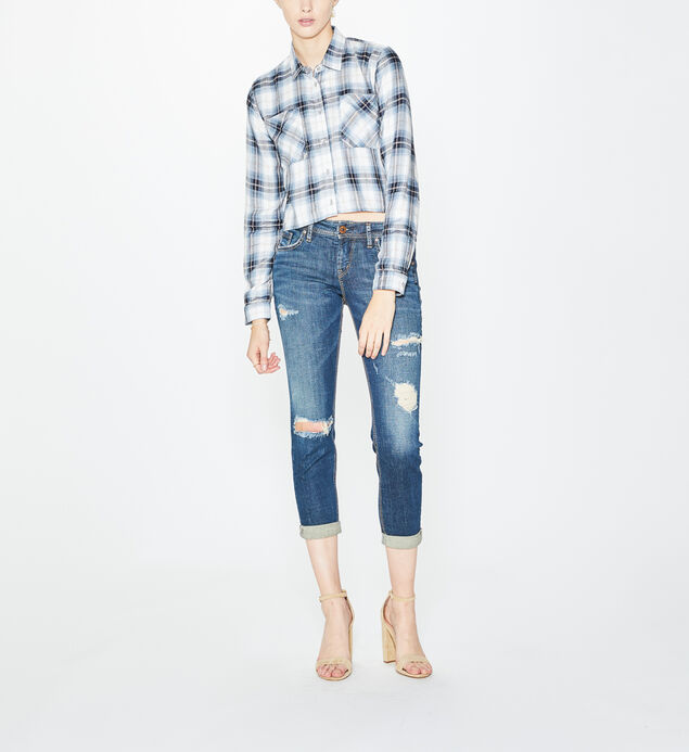 Sawyer Plaid Crop Top