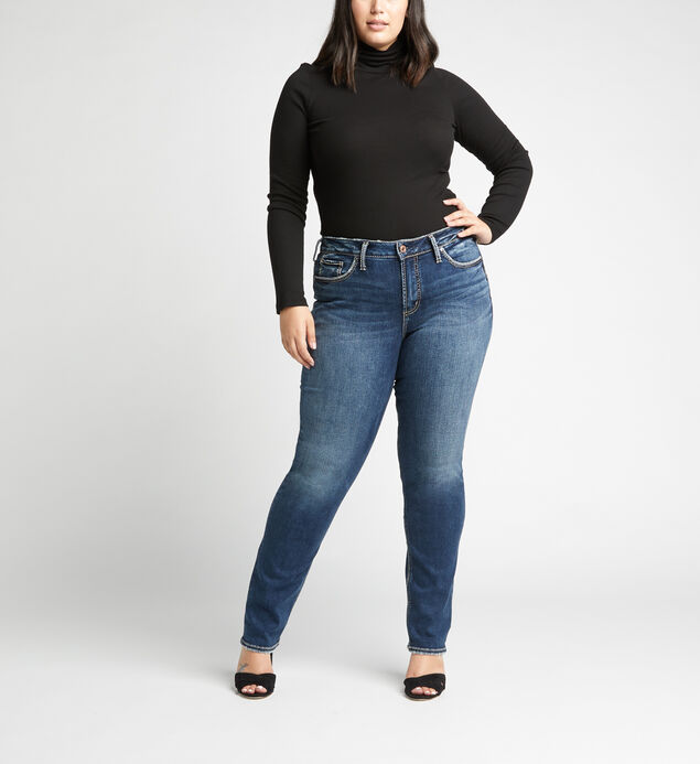 Avery High Rise Straight Leg Plus Size Jeans