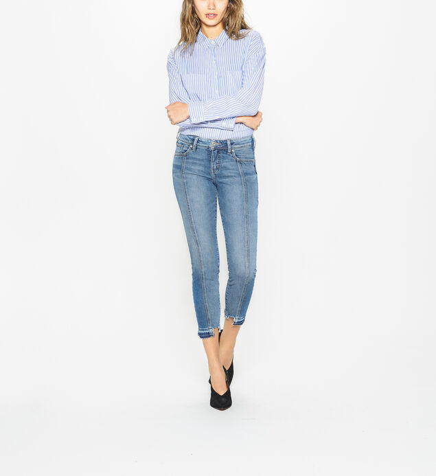 Aiko Skinny Mid Rise Medium Wash, , hi-res